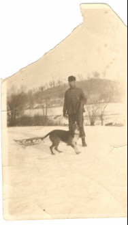 Walter John Brown and hunting dog
