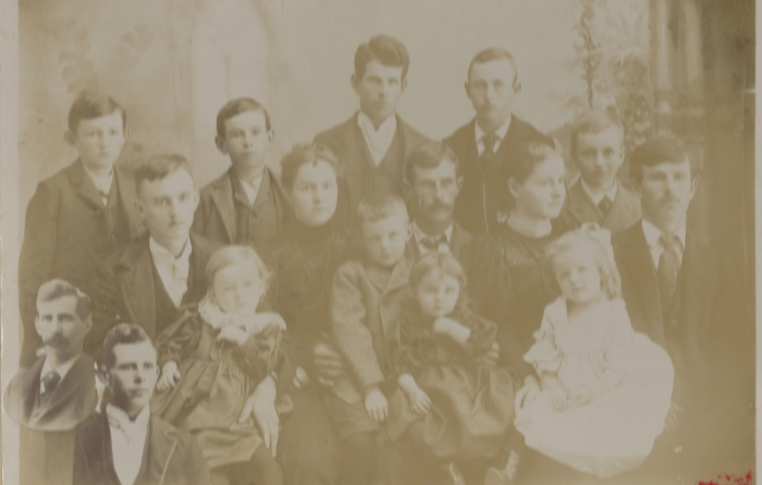 Composite photo of Isaac and Martha Doudna's grandchildren